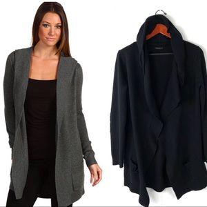 Theory cardigan Dania B cashmere hooded sweater